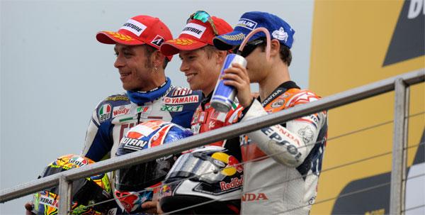 Rossi podio donington park