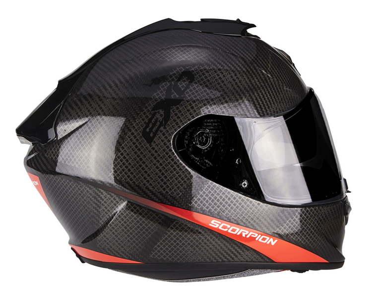 casco moto in carbonio