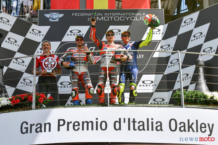 MOTO GP MUGELLO 2018 Podio