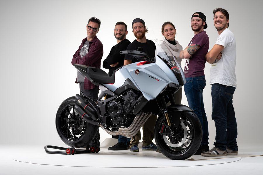 Team Honda R&D Europe con la CB4 X Concept